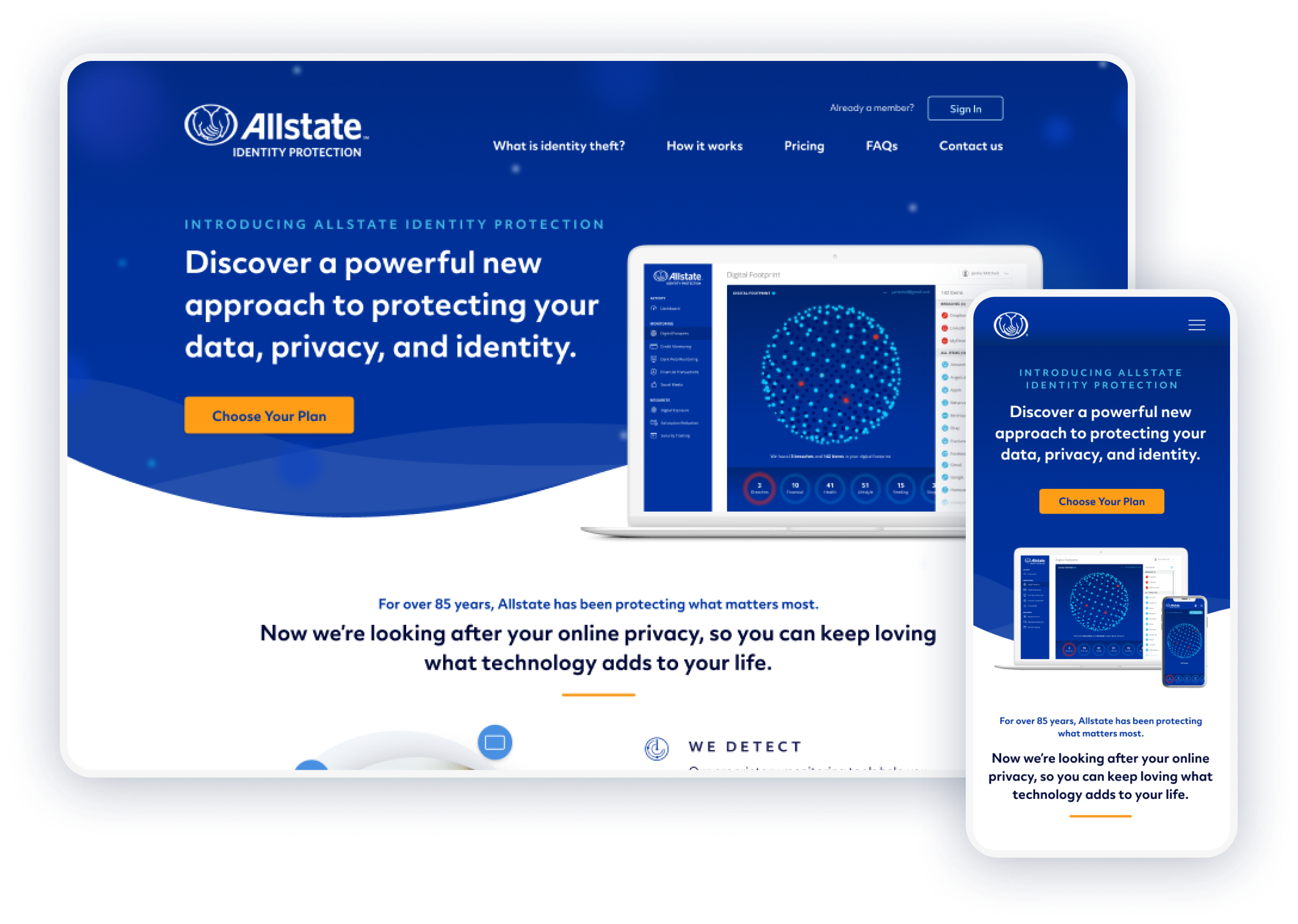 Allstate Identity Protection Website
